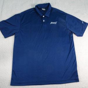 Blue Nike Budweiser Beer Dri-Fit Polo Shirt XL